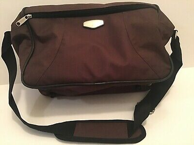 Protocol Brown Canvas Carry-on Overnight Bag Shoulder Strap