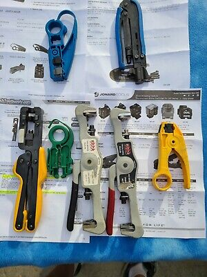 Lot of 7ea- PCT Sargent Jonard Cable Cutters 3ea- -  Crimpers 4ea- - used