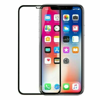 Tempered Glass Screen Protector Edge to Edge 3-PK For iPhone X XS 11 12 ProMAX