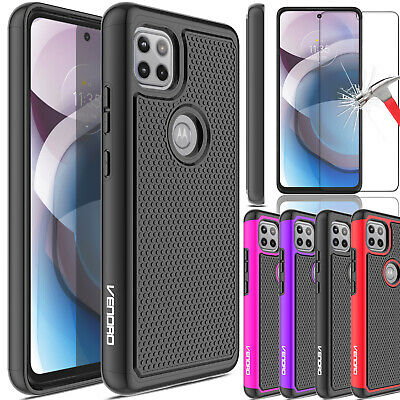 For Motorola Moto One 5G Ace 20212020 Case Rugged TPU CoverScreen Protector