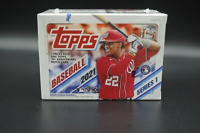 2021 Topps Baseball Series 1 SEALED BLASTER BOX 7 Packs RC Patch MORE FREE S-H