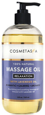 Lavender Relaxation Massage Oil 8-8 oz by Cosmetasa