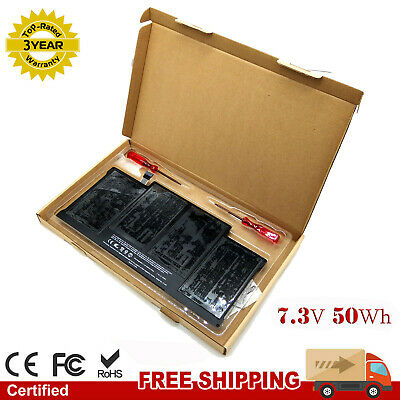 50Wh  A1496 A1405 Battery For Apple Macbook Air 13 A1466 2013 2014 2015 2017