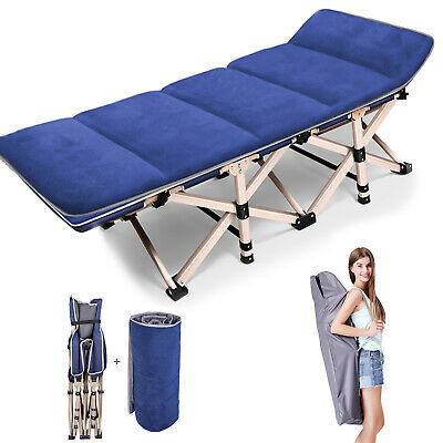 Outdoor Portable Folding Bed Cot Military Hiking Camping Sleeping Bed - Mattress