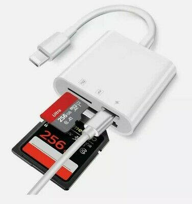 SD Card Reader for iPhone-Charging Port Micro SD Reader TF Memory Card Reader