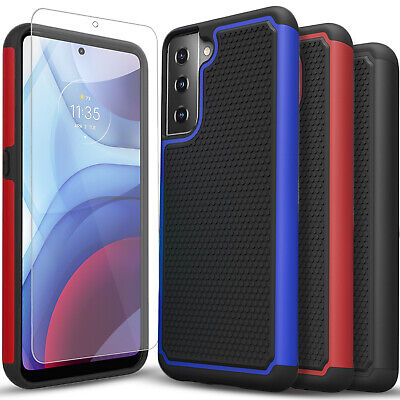 For Samsung Galaxy S21-S21 Ultra 5G Case Shockproof - Tempered Glass Protector