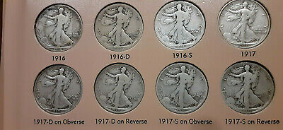 Walking Half Dollar Set Complete 1916-1947 65 Coins (Good to X-Fine, returnable)