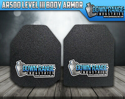 Body Armor AR500 Level 3 Set Of Plates Curved 10x12 SwimSapi FREE 2DAY SHIPPING