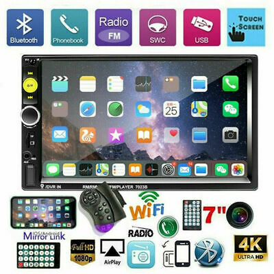 Car Radio MP5 Player Bluetooth Double 2 Din 7 FM AUX IN IOSAndroid Mirror Link