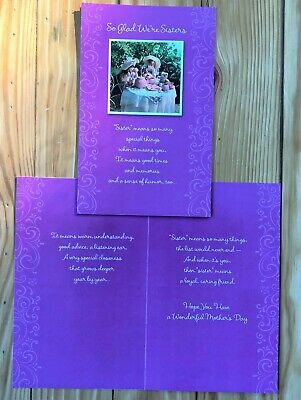 American Greetings Happy Mothers Day Card So Glad Were Sisters Tea Party