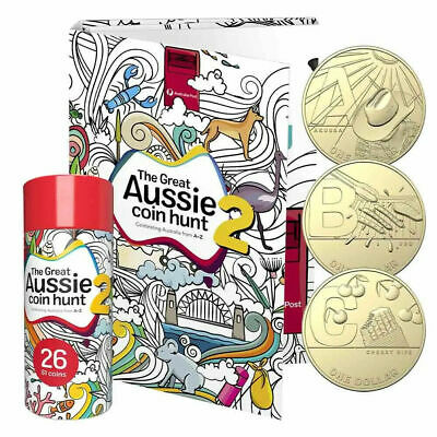 2021 Great Aussie Coin Hunt 2 with Folder - 26 Coins Set in Sealed Tube
