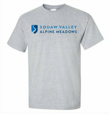SQUAW VALLEY Alpine Meadows Skiing T-shirt