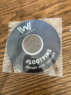 Loot Crate Limited Edition Westworld Pin Discover January 2018 NEW