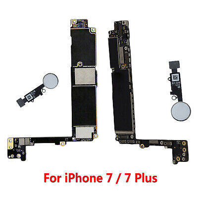For iPhone 7 7P 7 Plus 128GB Unlocked Motherboard Main Logic Board w Touch ID