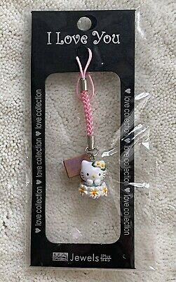 Hello Kitty Floral Hot Spring Cell Phone Charm