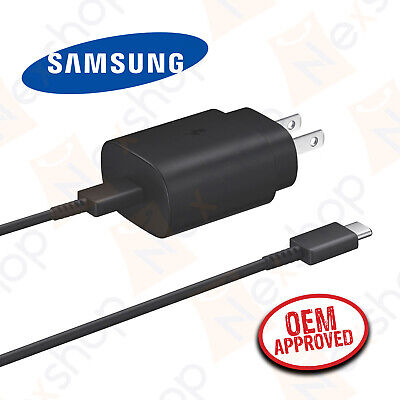 Original Samsung Galaxy S20 S20- 25W Super Fast Wall Charger - Type C Data Cable