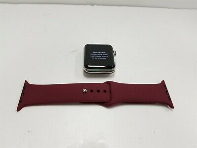 Apple Watch Series 3 Hermes 42mm Silver Stainless Cellular Smartwatch NF6804