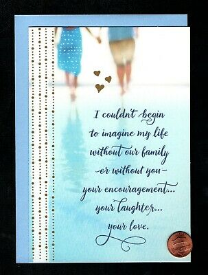 FATHERS DAY Couple Beach - FOR HUSBAND - RELIGOUS - Greeting Card W TRACKING