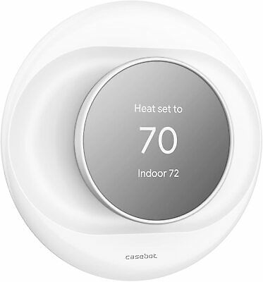 Wall Plate Cover Case For Google Nest Thermostat 2020 Bracket Mount