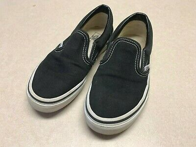 Vans Off The Wall Black Slip On Sneakers Kids Childrens Size 3