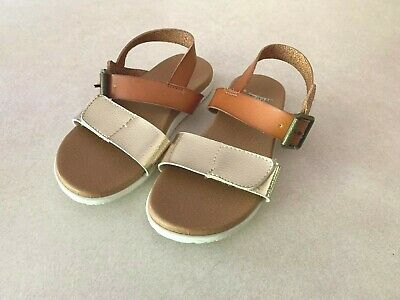 Girls NINA Gold Brown Sandals Size 12 Excellent Condition