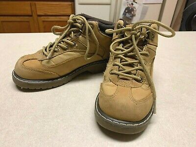 Buster Brown Boys Leather Size 13 Work Hiking Brown Tan Boots EUC