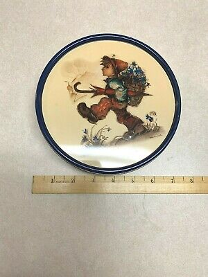 Hummel Round 6 12 diameter Tin Licensed by Goebel 1995 Olive Can Company