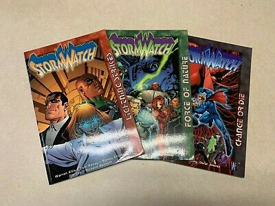 StormWatch Comic PB Lot of 3 Lightning Strikes Force of Nature Change or Die EUC