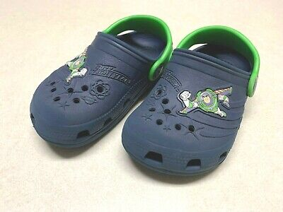 Crocs Toddler Size 8-9 Toy Story Buzz Lightyear Blue Shoes Clogs