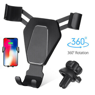 Gravity Car Mount Air Vent Phone Holder for iPhone X XR XS Max Samsung S10 Note9