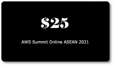 25 AWS Promo Credit Code Only 1 Code per AWS Account- Event May 2021