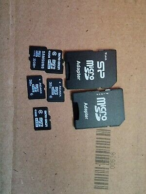 Original Pack of 5 microsd With SD adapter