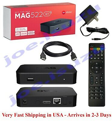 Infomir Mag 522w1 w built-In Wi-Fi - NEWEST MODEL 2021 Upgrade from Mag322w1
