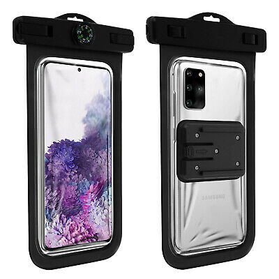 Pole Selfie Bluetooth Smartphone Waterproof Cover IPX8 With Strap - Black