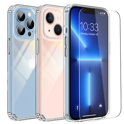 For iPhone 13 Pro13 Pro Max Case Clear Shockproof TPU Cover Screen Protector