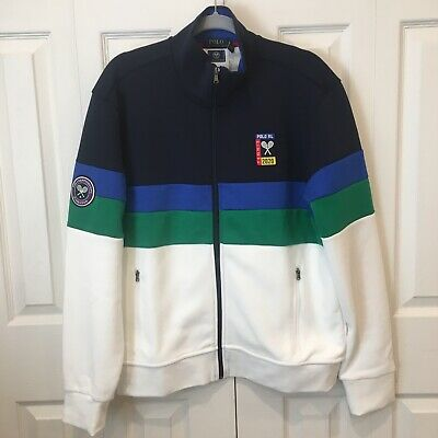 NWT Polo Ralph Lauren Mens Wimbledon Double Knit Track Jacket Large NEW 2020