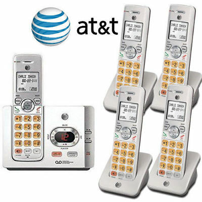 AT-T 5 Cordless Handset Phone System Answering Machine Caller ID Waiting EL52315