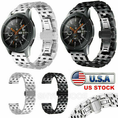 22mm Universal Stainless Steel Watch Band Metal Wrist Strap Replacement Bracelet