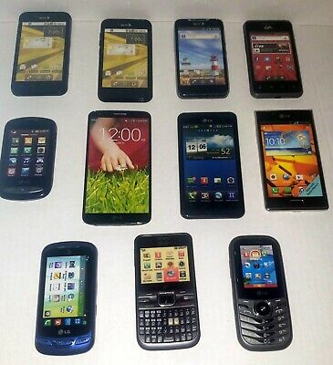 Dummy LG Cell Phone Prop  Display Model Toy Phone Lot Of 11 See Pictures