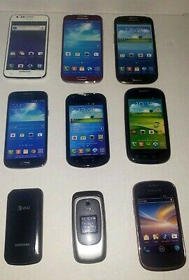 Samsung Cell Phone Prop  Display Dummy Model Toy Phone Lot Of 9 See Pictures