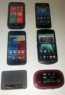 Verizon Cell Phone Prop  Display Dummy Model Toy Phone Mixed Lot Of 6 See Pictu