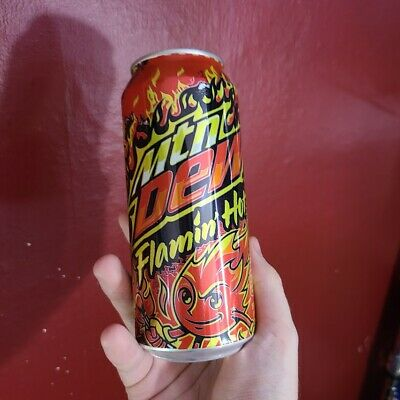 🔥 Mountain Dew Flamin Hot SINGLE 16OZ CAN🔥 - IN HAND - 🚚 FREE SHIPPING