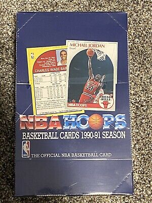 NBA Hoops Basketball 1990-1991 Series 1 Box Factory Sealed with 36 packs NEW
