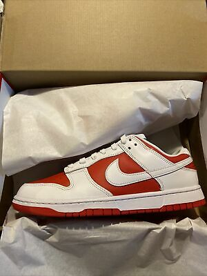 Nike Dunk Low Championship Red RedWhite - Mens Shoe Size 10 Brand New
