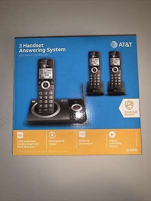 New Unopened AT-T CL82319 3 Handset Cordless Telephone with Smart Call Block 3