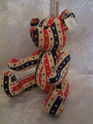 10 inch   Carlton Cards Bear Fourth of July EUC
