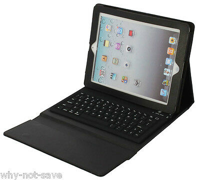 Wireless keyboard leather black case for Ipad 4 3rd A1416 A141 A1460 A1458 A1459
