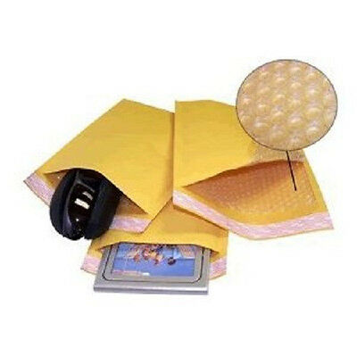Yens® 250 0 Kraft Bubble Padded Envelopes Mailers 6-5 X 10 fit DVD CD Case