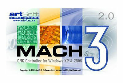 Fully Licensed Mach3 CNC Software by Artsoft! Fast Delivery