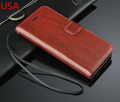 Luxury PU Leather Pouch Flip Cover Case Stand Wallet For Apple Iphone 6 4-7